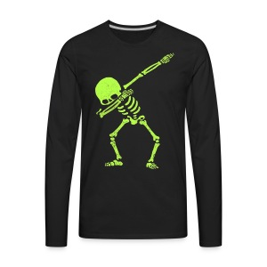 Dabbing Skeleton Shirt Dab Hip Hop Skull Pre - Men's Premium Long Sleeve T-Shirt