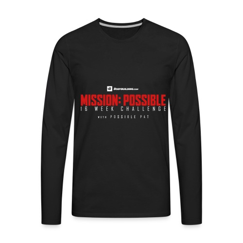 mission possible logo dark - Men's Premium Long Sleeve T-Shirt