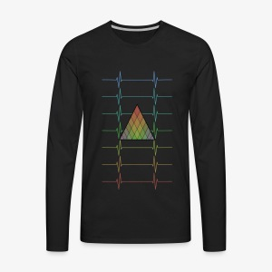Hipster Colorfull Heartbeats - Men's Premium Long Sleeve T-Shirt