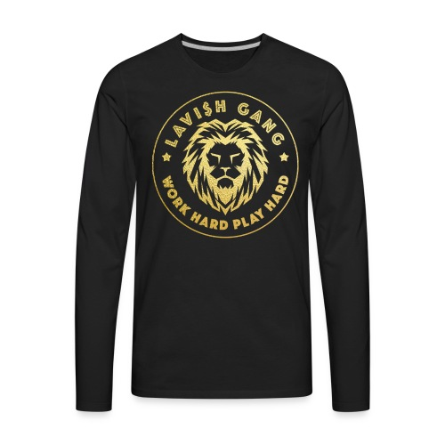 LAVI$H GANG | Work Hard Play Hard - Men's Premium Long Sleeve T-Shirt