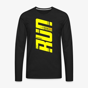 Dad Runner perfect gift for fathers day Marathon - Men's Premium Long Sleeve T-Shirt