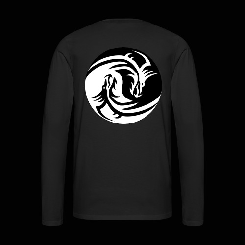 Ying Yang Dragon Merch - Men's Premium Long Sleeve T-Shirt