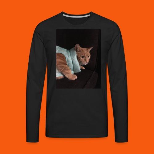 Trendy Orange Cat - Men's Premium Long Sleeve T-Shirt