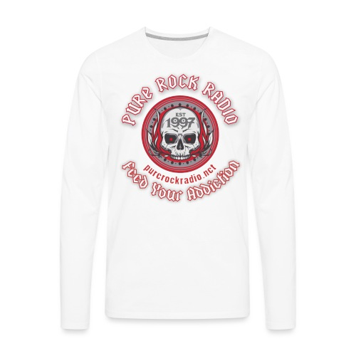 PUREROCKRADIO darkback radioflag PNG png - Men's Premium Long Sleeve T-Shirt