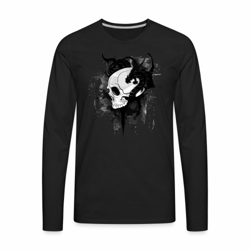 MajorX's skull - Men's Premium Long Sleeve T-Shirt
