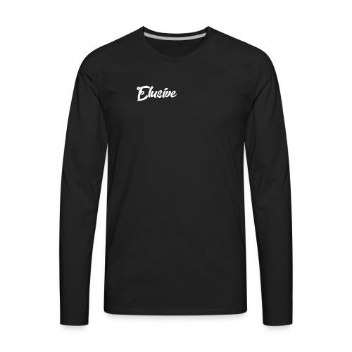 elusiveBrand White hoodie - Men's Premium Long Sleeve T-Shirt