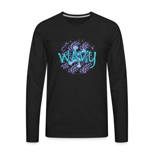 Wavy Patterns - Men's Premium Long Sleeve T-Shirt