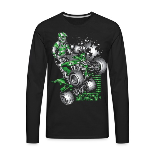 Yamaha ATV Grunge Quad - Men's Premium Long Sleeve T-Shirt
