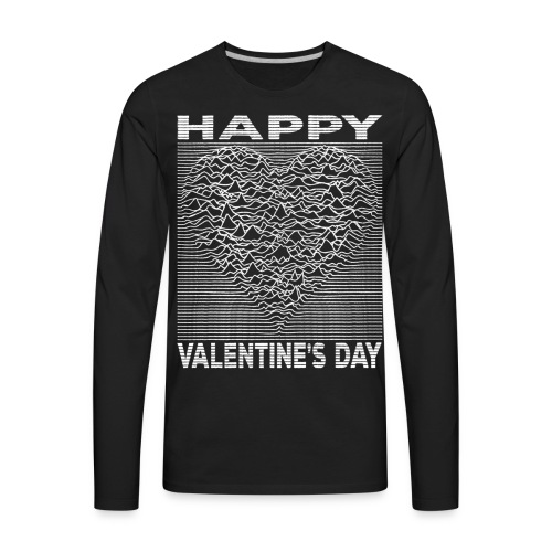 Love Lines Happy Valentines Day Heart - Men's Premium Long Sleeve T-Shirt