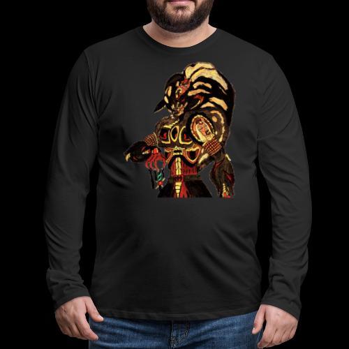 Prince of Bitches, Beastmaster Mun-Da Portrait - Men's Premium Long Sleeve T-Shirt