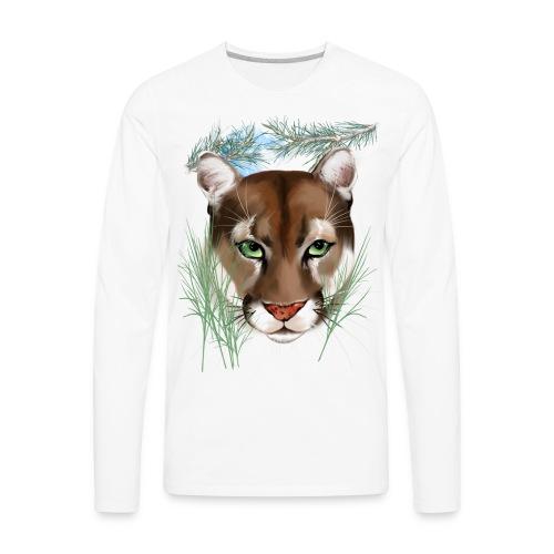 Midnight Puma - Men's Premium Long Sleeve T-Shirt