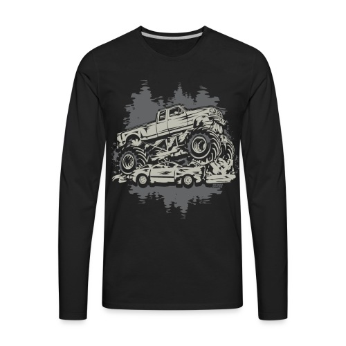 Monster Truck Grunge - Men's Premium Long Sleeve T-Shirt
