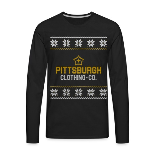 pghcco wordmark sweater - Men's Premium Long Sleeve T-Shirt