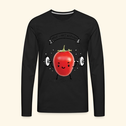 Tomato Man Gym - Men's Premium Long Sleeve T-Shirt