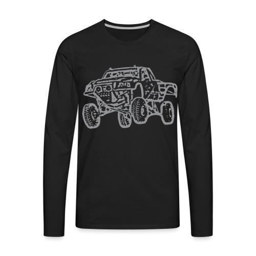 Jump Truck Grey - Men's Premium Long Sleeve T-Shirt