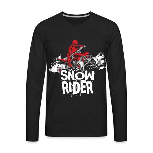 ATV Quad Snow Rider - Men's Premium Long Sleeve T-Shirt