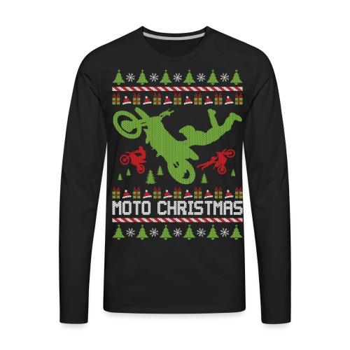 Moto Christmas Supercross - Men's Premium Long Sleeve T-Shirt