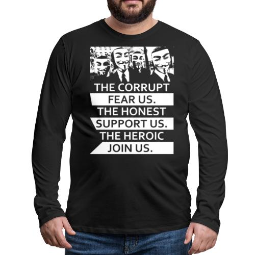 Anonymous 5 - Men's Premium Long Sleeve T-Shirt