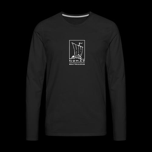 Nomad Boatbuilding Logo - Men's Premium Long Sleeve T-Shirt