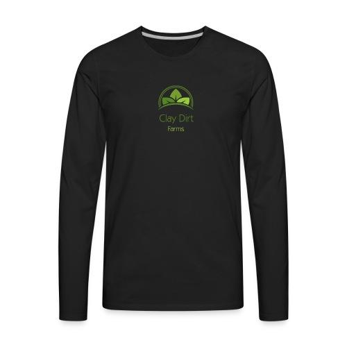 Clay Dirt Farms - Men's Premium Long Sleeve T-Shirt