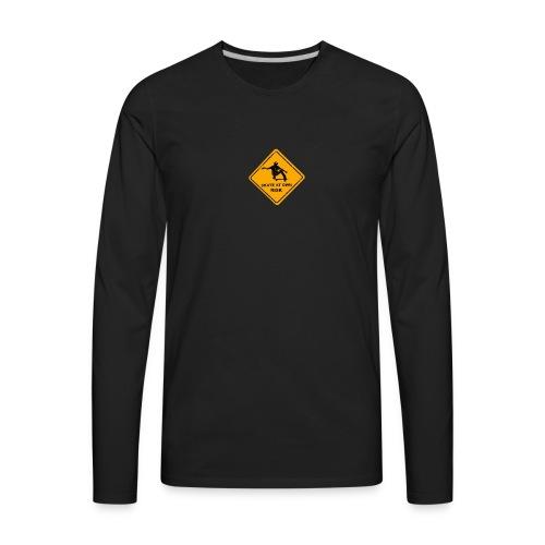 skate at own risk - Men's Premium Long Sleeve T-Shirt