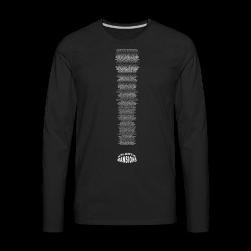 'shitpost' white - Men's Premium Long Sleeve T-Shirt