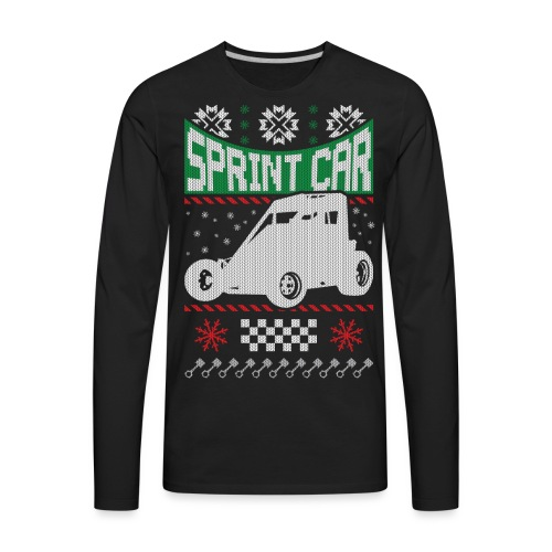 Sprint Car Christmas - Men's Premium Long Sleeve T-Shirt