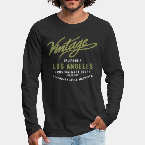 vintage retro los angeles - Men's Premium Long Sleeve T-Shirt