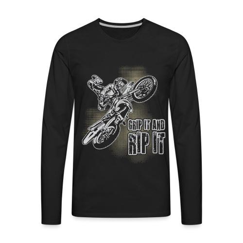 Extreme Motocross Grip It - Men's Premium Long Sleeve T-Shirt