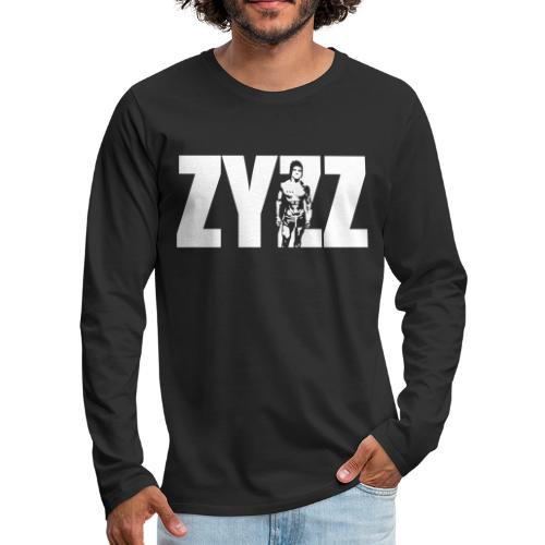Zyzz Stand Text - Men's Premium Long Sleeve T-Shirt
