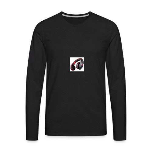 headphones - Men's Premium Long Sleeve T-Shirt