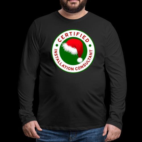 Christmas Lights R Us Emblem - Men's Premium Long Sleeve T-Shirt