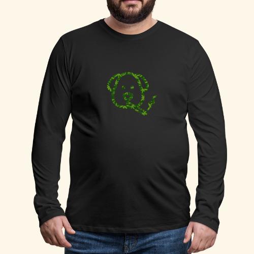 Smoking Dog - Men's Premium Long Sleeve T-Shirt