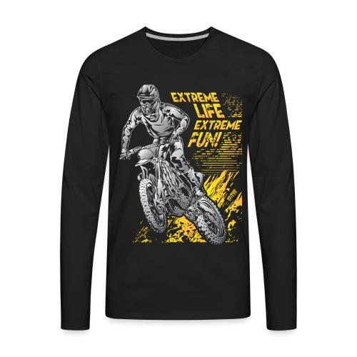 Extreme Life Motorcycle - Men's Premium Long Sleeve T-Shirt