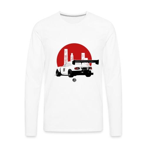 BEAVIS RACECARLOGO BLACK - Men's Premium Long Sleeve T-Shirt