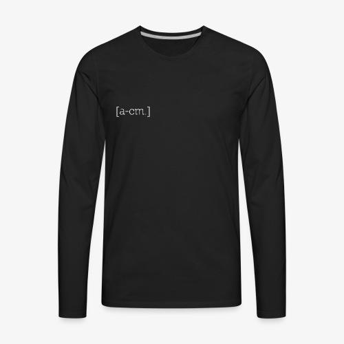 [a-cm.] - Men's Premium Long Sleeve T-Shirt