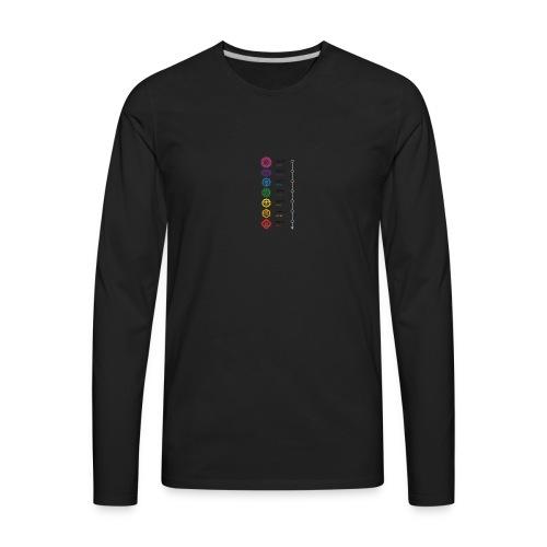 chakra steps - Men's Premium Long Sleeve T-Shirt