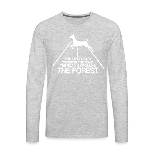 Deer's forest white - Men's Premium Long Sleeve T-Shirt