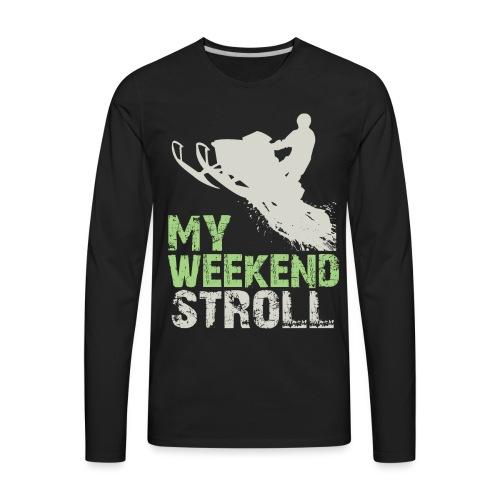 Snowmobile Weekend Stroll - Men's Premium Long Sleeve T-Shirt