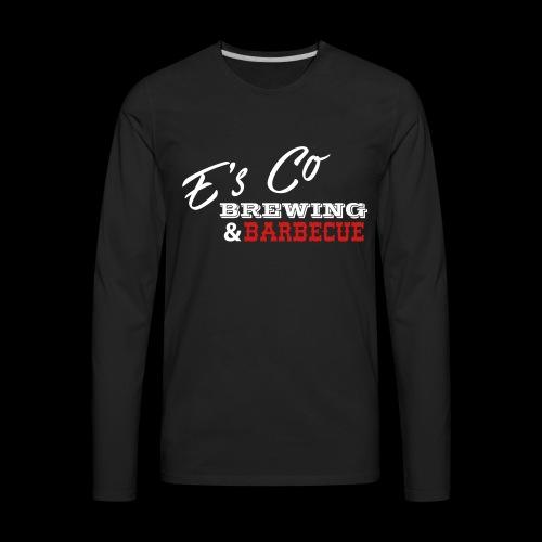Es Co Brewing BBQ White - Men's Premium Long Sleeve T-Shirt