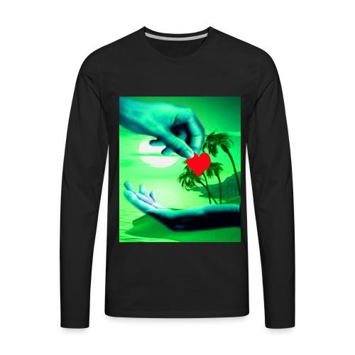 The cheek of my heart - Men's Premium Long Sleeve T-Shirt