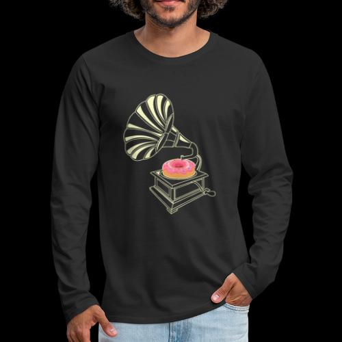 Donut Stop the Music | Sweet Gramophone - Men's Premium Long Sleeve T-Shirt