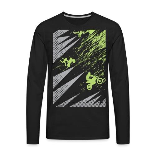 Motocross Dirt Bike Apparel - Men's Premium Long Sleeve T-Shirt