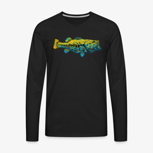 GOLD AND BLUE BASS - Men's Premium Long Sleeve T-Shirt