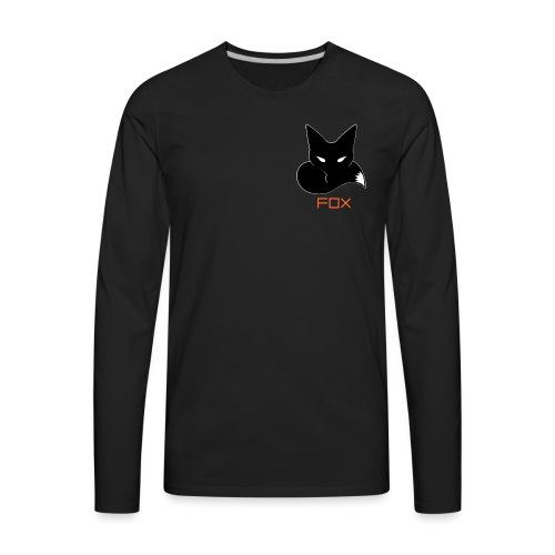 YouTube Logo White Outline - Men's Premium Long Sleeve T-Shirt