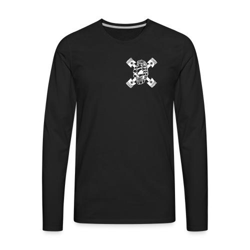 ZD SKULL BONES WHITE - Men's Premium Long Sleeve T-Shirt