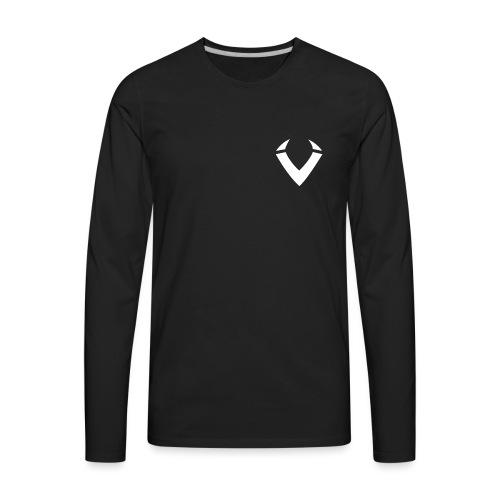 Vision V Logo - White V - Men's Premium Long Sleeve T-Shirt