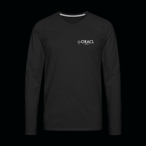 ORACL LOGO WHITE - Men's Premium Long Sleeve T-Shirt