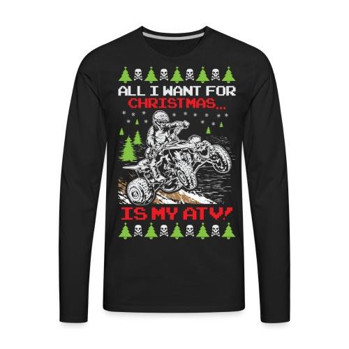 Ugly Christmas ATV Quad - Men's Premium Long Sleeve T-Shirt