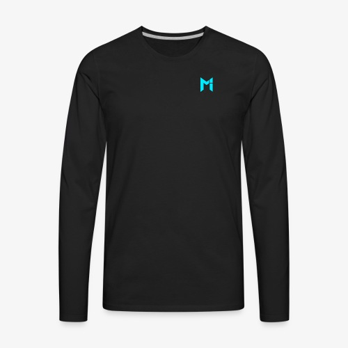 Turquoise Mrzah Logo - Men's Premium Long Sleeve T-Shirt